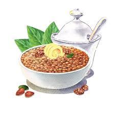 Lentil Painting Lentil Soup Watercolor Food Illustration by Irina Sztukowski