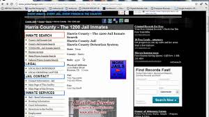 Harris County Jail Inmates Harris County Jail YouTube