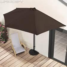 Semi Circle Patio Furniture by Semi Circular Parasol Umbrella Balcony Garden Sunshade Patio