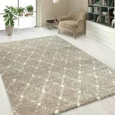 hochflor teppich wohnzimmer rauten muster teppich beige