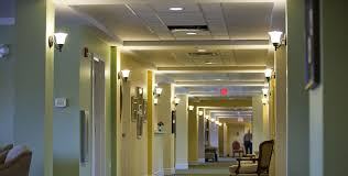 lighting ideas commercial hallway lighting with rubbed bronze