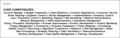 Competencies List For Resume by Résumé Help Competencies Careers Done Write