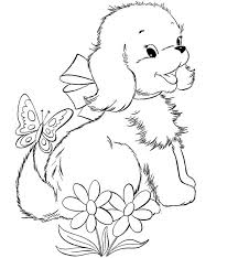 Coloring Pages Puppy Cute Image To Print And Color 033 For Kids