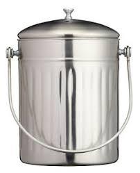 details zu komposteimer kompostbehälter küche kitchencraft vintage edelstahl bioabfalltonne