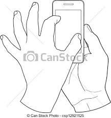Hand touch screen vector illustration Search Clipart Drawings