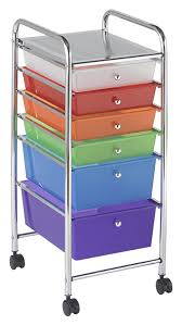 Six Drawer Storage Cabinet by Ecr4kids 6 Drawer Mobile Organizer Assorted Colors Childrens