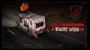 Sweet Tooth - Twisted Metal Wiki Guide - IGN Twisted Metal Rc Playstation Sweet Tooth Palhao Pinterest Sony Playstations Ice Cream Truck Robocraft Garage Rember This Ice Cream Truck From Twisted Metal Back On Hollywood Losangeles Trucks Home Facebook The Review Adamthemoviegod E3 2011 Media Event Tooths A Photo Car Flickr Pday 2 Mod Sweeth Van Junkyard Find 1974 Am General Fj8a Truth