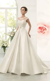 Cap Sleeve Bridesmaid Dresses Floor Length by Satin Bridal Dresses Satin Aline Wedding Dress Dorris Wedding