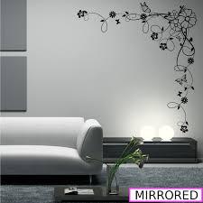 Wall Mural Decals Flowers by Corner Flower Vine Hibiscus Wall Art Sticker Vinyl Transfer Decal