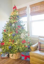 Turn A Storage Basket Into Christmas Tree Skirt
