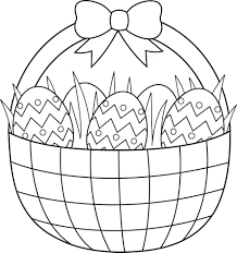 Coloring Page Easter Bunny Related Post Basket Pages Eggs Printable Pdf Large Size