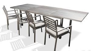 table de jardin à rallonges en aluminium irwan mobilier moss