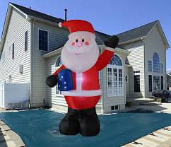 Grinch Blow Up Yard Decoration by Amazon Com 10 Foot Inflatable Portable Santa Claus Blow Up