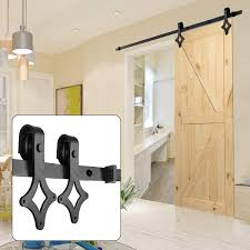 UMAX 66 FT Rhombic Shape Heavy Duty Sturdy Sliding Barn Door Hardware Kit Smoothly And Quietly Easy To Install Fit 36