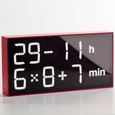 Contemporary Clocks Digital Wall Mounted Desk By Axel Schindlbeck Albert Clock