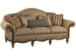 Thomasville Leather Sofa And Loveseat by Thomasville Ernest Hemingway 462 Pauline Camel Back Sofa With