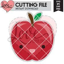 Cute Apple SVG Cut File