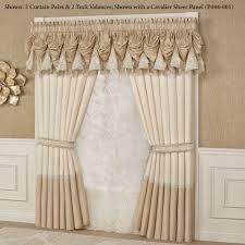 Mrs Wilkes Dining Room Savannah Ga Menu by Elegante Sequined Tuck Valance Window Treatment