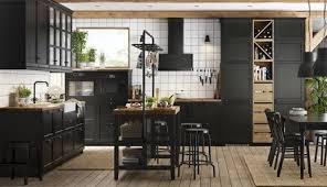 küche lerhyttan schwarz lasiert haus küchen ikea küche