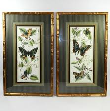 Multi Color Butterflies Print Picture Bamboo Frame Pair Names Live Real Butterfly Flight Images Photography 3D