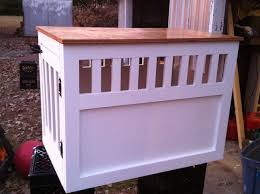 How To Build A End Table Dog Crate by Ana White Large Wooden Dog Crate End Table Diy Projects