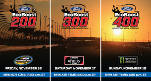 Homestead-Miami Schedule Of Events - Ford EcoBoost 400 | MRN