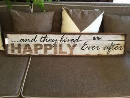 Wedding Sign Decor Gift Happily Ever After