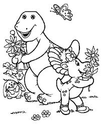 Printable Barney Coloring Book Page