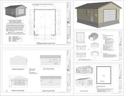 6 X 8 Gambrel Shed Plans by G507 20 X 24 X 8 Garage Plans Sds Plans