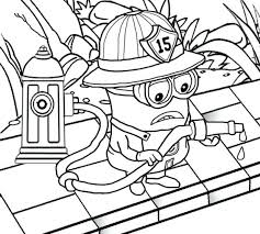 Fireman Sam Jupiter Colouring Pages Firefighter Coloring Fighting Attire Wardrobe Minion Printable Penny Tom
