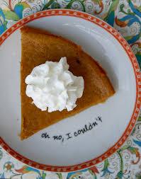 Crustless Pumpkin Pie by Pumpkin Pie With No Crust Recipe