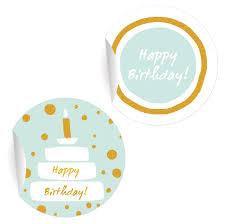 48 edle geburtstags aufkleber mit kuchen happy birthday matte papieraufkleber ø 30mm 1 motiv