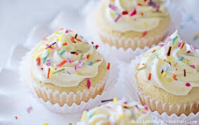 Vanilla Cake with Vanilla Whipped Frosting Low Carb & THM S Sprinkle Some Fun