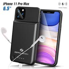 ZEROLEMON IPhone 11 Pro Max Battery Case, Wireless Charge + Headphone  Support 5000mAh SlimJuicer Portable Protective Case, Compatible With IPhone  11 ...
