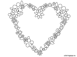 Hearts And Flowers Coloring Pages 15