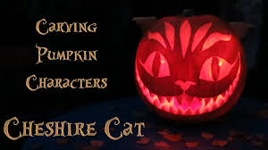 Totoro Pumpkin Carving Patterns by Pumpkin Carving Cheshire Cat Youtube