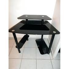 table bureau verre bureau en verre trempac noir bureau table verre bureau verre noir