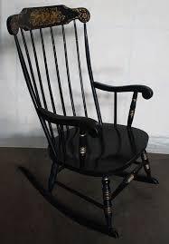 Nichols And Stone Windsor Rocking Chair by Vintage Black Hitchcock Rocker Rocking Chair By Scrantonattic