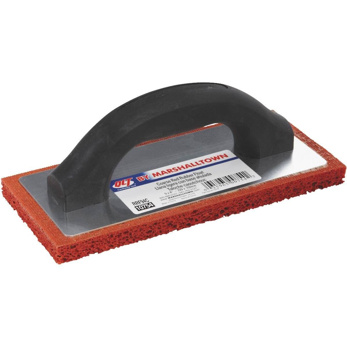 Marshalltown Rubber Float - 9 x 4 in, Red