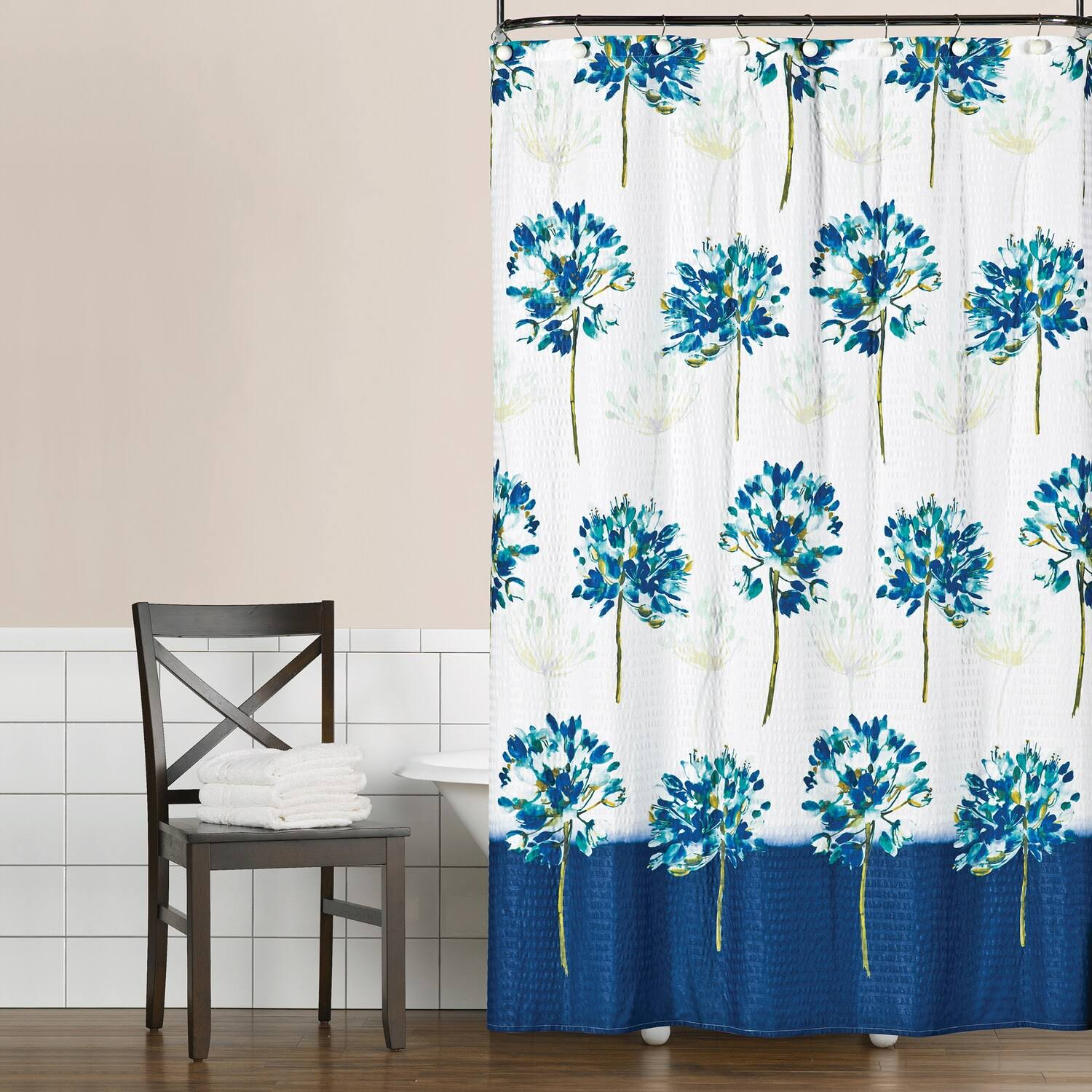 Saturday Knight LTD Blue Medley Shower Curtain