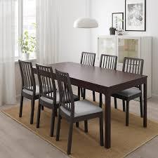 ekedalen ekedalen tisch und 6 stühle dunkelbraun orrsta