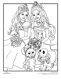 Barbie And Dog Colouring Pages Page 3