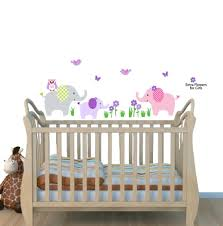 Amazon Elephant Nursery Tree Decal Pink Wall Stickers Animal Decals Baby Pink Baby