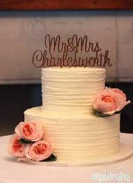 TWO TIER COUNTRY STYLE LINEAR CAKE WITH WOODEN TOPPER