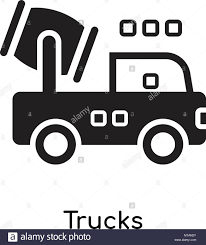 Trucks Icon Isolated On White Background For Your Web And Mobile App ...