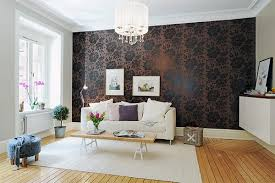 Black Wallpaper Living Room Carameloffers