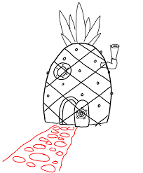 How To Draw Spongebob Squarepants Pineapple House With Drawing Directions