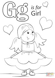 Click The Letter G Is For Girl Coloring Pages