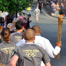 100 Darren Cambell Campbell Carries Olympic Torch In Worcester Flickr