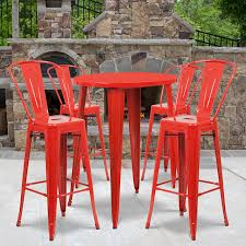 30'' Round Red Metal Indoor-Outdoor Bar Table Set With 4 Cafe Stools Restaurant Fniture In Alaide Tables And Chairs Cafe Fniture Projects Harrows Nz Stackable Caf Widest Range 2 Years Warranty Nextrend Western Fast Food Cafe Chairs Negoating Tables 35x Colourful Gecko Shell Ding Newtown Powys Stock Photo 24 Round Metal Inoutdoor Table Set With Due Bistro Chair Table Brunner Uk Pink Pool Design For Cafes Modern Background